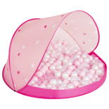 Pink Shell:Powder Pink-Pearl-Transparent